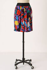 Anthropologie Factory Floral Skirt Sz 8, Floral Print Pleated Silk Skirt By Lil