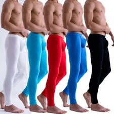 Men's Sexy Modal Tight Long Johns Thermal Underwear Solid Pants Leggings 5colors