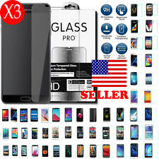 3X New 9H Tempered Glass Screen Protector For Apple HTC Samsung Google MOTO LG