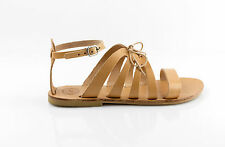 Ancient Greek Women Handmade Open Toe Leather Sandals,Leather Lace up Sandals