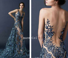2016 Women Long Sexy Evening Party Prom Gowns Cocktail Dresses With Train Custom