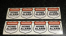 8X Home Alarm Security stickers Live Cellular Alert, decals, security set of 8