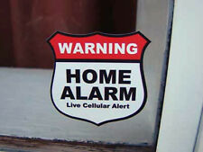 16X Home Alarm Security stickers Live Cellular Alert, decals, security set of 16