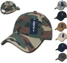 DECKY Camo Military Army ACU Woodland Low Crown Relaxed Ripstop Dad Hats Caps