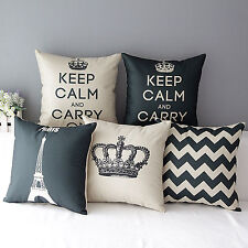 Simple Fashion linen Throw Pillow Cases Square Home Decorative Cushion Cover