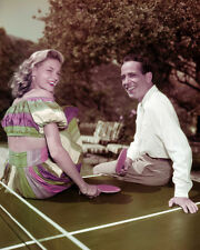 Henry Bogart and Lauren Bacall Poster or Photo Rare Candid Color