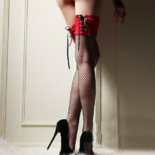 For Ladies Girls Sheer Lace Leg Socks Top Thigh High Hosiery Sexy Stockings