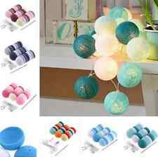 20 LED Cotton Ball Fairy String Light Holiday Wedding Party Yard Christmas Decor