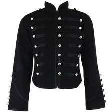 Banned Clothing Black Steampunk Emo Parade Band Gothic Drummer Style Coat Jacket