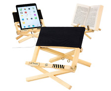Wooden Reading Rest Adjustable Book Holder Display Stand Wood Cook Kitchen iPad