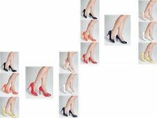 LADIES COURT SHOES WOMENS SMART MID / HIGH HEEL WORK OFFICE / FORMAL SHOES