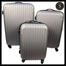 Quality Lightweight Light Grey Hard Shell Cabin Large ABS Luggage Suitcase