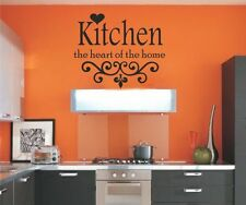 ❤️ KITCHEN THE HEART OF THE HOME Kitchen Wall Quotes / Art Wall Sticker Decal Vi