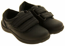 Boys GOLA Kids Black Coated Leather School Trainers Shoes Sizes 9 - 1