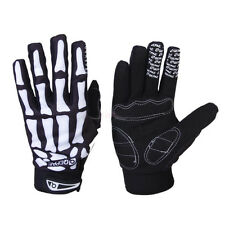 Cool Skull Bone Skeleton Goth Full Finger Motorcycle Bicycle Racing Sport Gloves