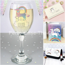 Personalised Birthday Unicorn Gift Ideas for Girls Women 18th 21st 30th 40th 50