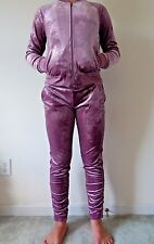 NWT Women's AUTHENTIC JUICY COUTURE LIMITED Lilac Snow Velour Track Suit LARGE