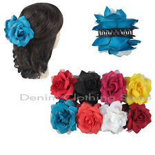 6pcs Flower Rose Jaw Hair Clip Claw Double Sided Style Petals Pin Updo Party Lot