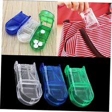 Portable Travel Medicine Pill Compartment Box Case Storage with Cutter Blade CU