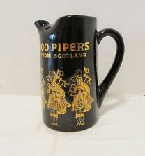 Vintage 100 PIPERS From Scotland Seagrams SCOTCH WHISKEY Water Pitcher/Jug LQQK