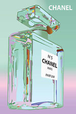 Vintage Print Paper Poster Canvas Framed Art by Chanel 5