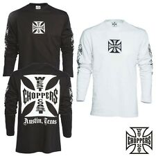 West Coast Choppers OG Cross Long Sleeve T-Shirt Shirt Jesse James NEU