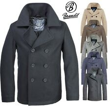 BRANDIT PEA COAT Navy Wool coat Men's Winter Jacket coat Caban Short coat