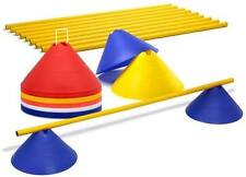 50 Markers Dome Cones Hurdle Speed Agility Cross Football Athletic Training Disc