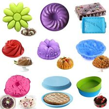 Silicone Cake Mold Pan Muffin Pizza Pastry Baking Tray Mould Bakeware 26 Styles