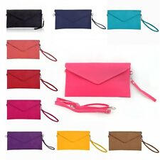 Women Matte Evening bag Envelope Clutch Bag Cross body Messenger bag Wristlet