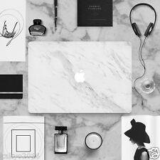 Laptop White Marble STICKER Full Skin Decal Cover For Macbook Air Pro Late 2016