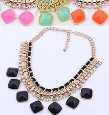 Statement Collier Blogger Necklace Elegant Choker Strass 4 COLORS