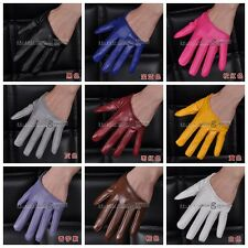 Pu Leather Lady's Five-Finger Real Leather Half Gloves Sex City Women's Fashion