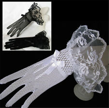 Lace Fishnet Bridal Gloves Lace Gloves Fingered Gloves For Party Wedding abus