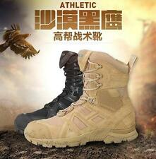 Army Athletic Tactical Comfort Leather Combat Military Ankle Boots Mens Shoes Sz