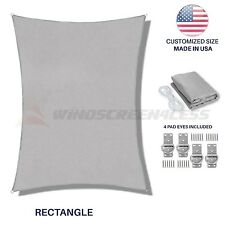Light Grey Square Rectangle Sun Shade Sail Canopy Awning  Patio Pool UV Cover