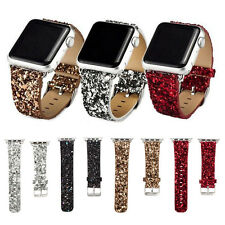 Fashionable Bling Leather Strap Wrist Band  For Apple Watch 38 42 mm series 1/2