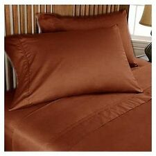 Hotel Quality Extra Deep Pocket 4pc Sheet Set Brick Red Solid 1000 Thread Count