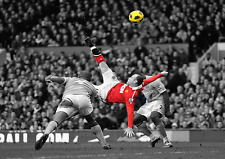 WAYNE ROONEY MANCHESTER UNITED VS MAN CITY LEGEND OVERHEAD KICK POSTER A0 A1 A2
