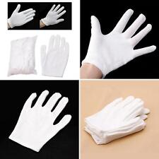 12 Pairs White Inspection Cotton Work Gloves Coin Jewelry Lightweight New Ardent