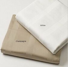 Hudson Park 700 TC Stripe Pillowsham King Euro Standard White Champagne CHOOSE