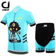 Cheji Kids Cycling Jersey Short Sleeve Bike Jersey Sport Summer Bicycle Clothing