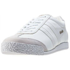 Gola Harrier Mens Trainers White White New Shoes