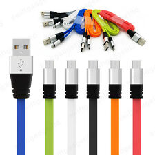 Premium 2.1A Flat Micro USB FAST Data Charger Cable Lead for Samsung Galaxy