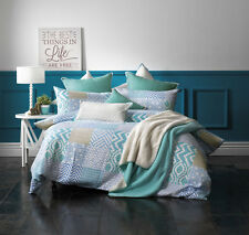 Emmerson Blue Quilt Cover Set by Bianca Double | Queen | King | Super King
