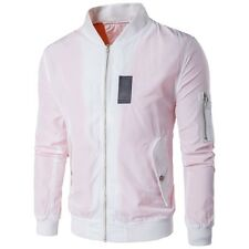 Stylish Mens Coat Casual Outwear Slim Two button Stand collar Short Jacket