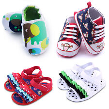 Infant Newborn Baby Boy Girl Pre-Walker Soft Sole Crib Shoes Seankers 3-12Months