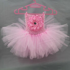 Pink Baby Tutu Dress Infant Princess Dresses For Girls Tulle Birthday Tutus