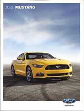 2016 Ford MUSTANG  42 Page Dealer Brochure  &  EXTERIOR PAINT CHIP CARD