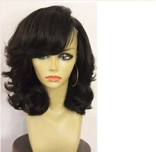 Short Bob Human Hair Wig With Side Bangs Glueless Brazilian Wig